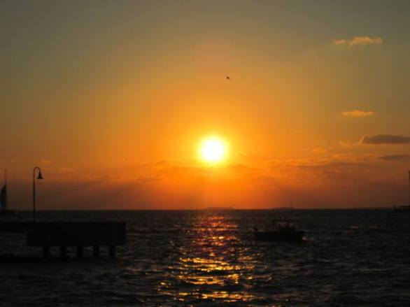 Sunset at Sunset Pier, Key West, Florida, February 2015