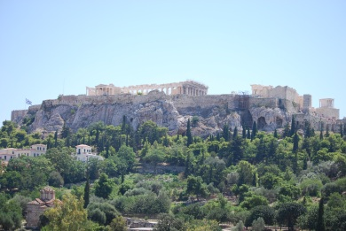 Parthenon view from Hepahistos temple