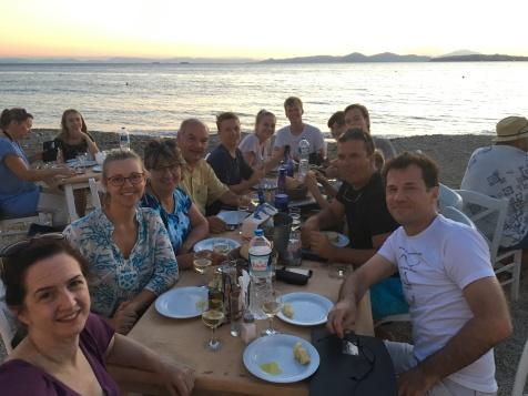 athens-beach-dinner-group