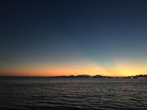 athens-beach-dinner-sunset