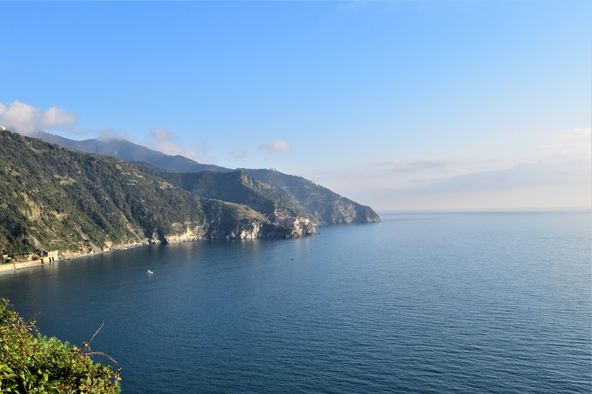 Manarola in the distance